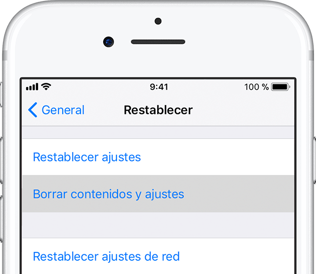 Hard reset en iPhone