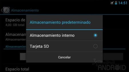 Ampliar la memoria interna de Android