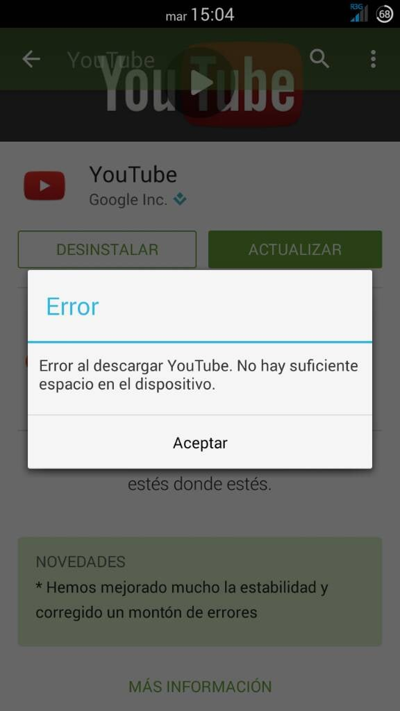 Problemas de descarga en Android